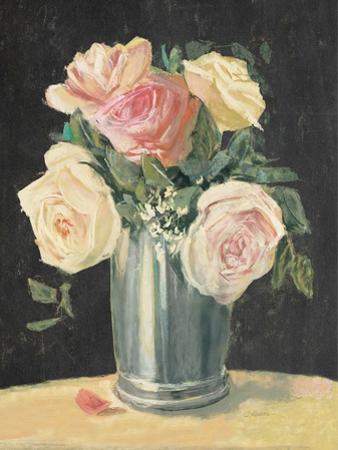 Silver Vase I on Black by Carol Rowan