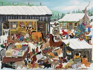 Barnyard Christmas Party by Carol Salas
