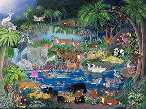 "Lagoon #1 ""Playmates"" by Carol Salas"
