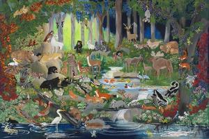 With St. Francis #1 - Forest Glade by Carol Salas