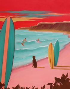 Ditch Plains Surf by Carol Saxe