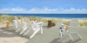 Dogs on a Deck by Carol Saxe