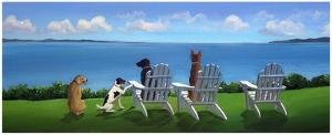 Pups with a View by Carol Saxe