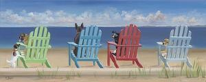 Rainbow Chair Tails by Carol Saxe