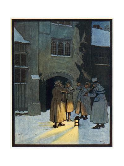 Carol Singers-Cecil Aldin-Giclee Print