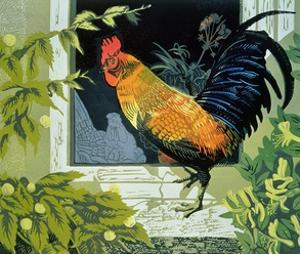 Gamecock and Hen, Version Two by Carol Walklin