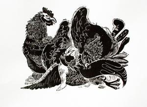 Jealous Hens by Carol Walklin