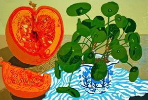 Missionary Plant and Pumpkin by Carol Walklin
