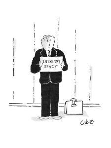 Internet Ready - Cartoon by Carole Cable