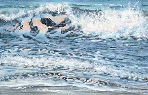 Shoreline study 14 by Carole Malcolm