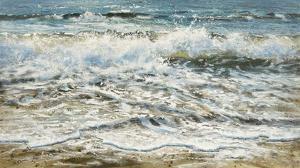 Shoreline study 6 by Carole Malcolm