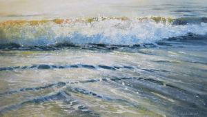 Shoreline study 7 by Carole Malcolm