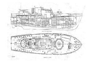 Boat Blueprint 1 by Carole Stevens