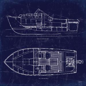 Boat Blueprint 2 by Carole Stevens