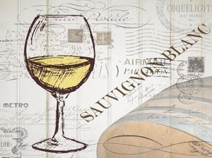 Vintage Wine 1 by Carole Stevens