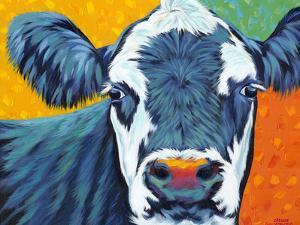 Colorful Country Cows I by Carolee Vitaletti