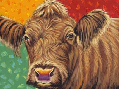 Colorful Country Cows II by Carolee Vitaletti