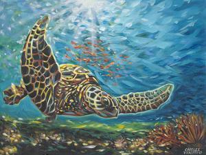 Deep Sea Swimming I by Carolee Vitaletti