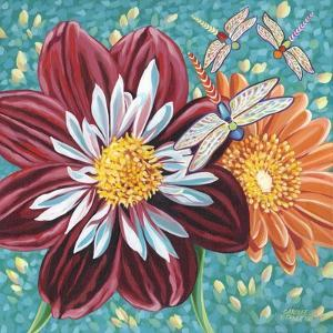 Dragonfly on Blooms I by Carolee Vitaletti