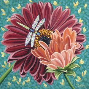Dragonfly on Blooms II by Carolee Vitaletti
