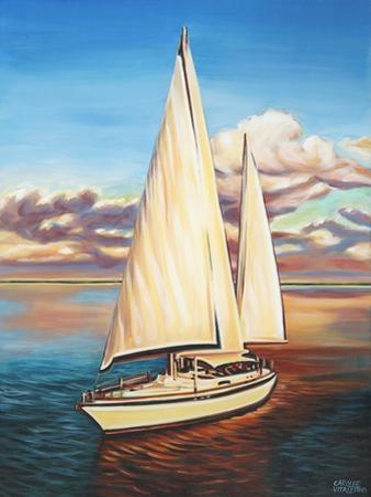 Sunset Cruise I by Carolee Vitaletti