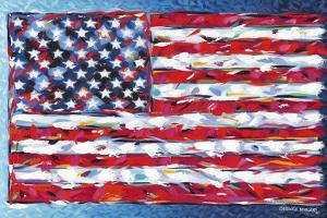 Vibrant Stars and Stripes by Carolee Vitaletti