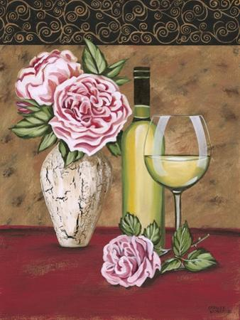 Vintage Flowers and Wine II by Carolee Vitaletti