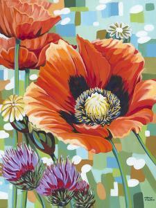 Vivid Poppies II by Carolee Vitaletti