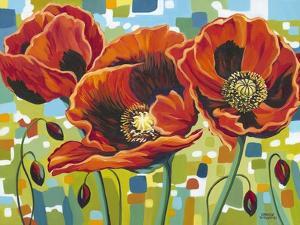 Vivid Poppies III by Carolee Vitaletti