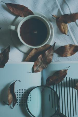 Brown Leaves and a Cup of Coffee
