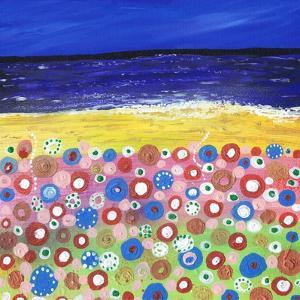 Flowers by the Beach by Caroline Duncan