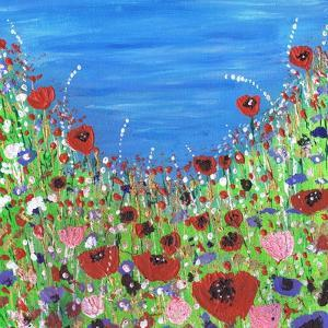 Roses and Poppies by Caroline Duncan