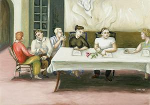 Annunciation at Table, 2006 by Caroline Jennings