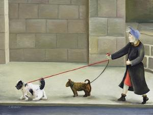 Dog Walker, Ile St. Louis by Caroline Jennings
