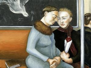 Subway Annunciation, 2006 by Caroline Jennings