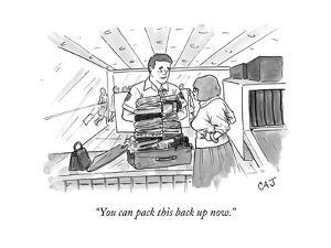 """""""You can pack this back up now."""" - New Yorker Cartoon by Carolita Johnson"""