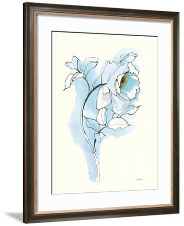 Carols Roses III Blue-Shirley Novak-Framed Art Print