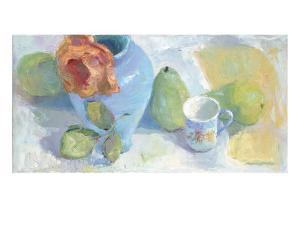 Pears and Rose 1 by Carolyn Biggio