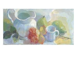 Pears and Rose 2 by Carolyn Biggio