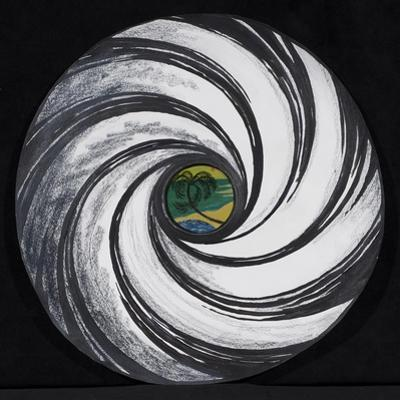 Lense Swirl with Palm Tree, 2005 by Carolyn Hubbard-Ford