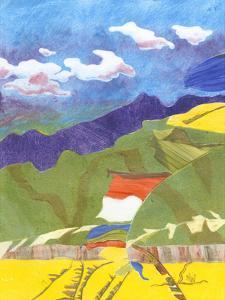 Prayer Flags VI by Carolyn Roth