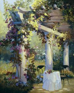 Afternoon in the Garden by Carolyne Hawley