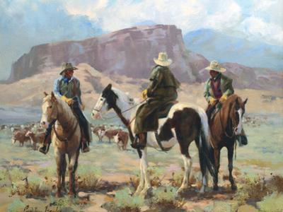Three Cowboys by Carolyne Hawley