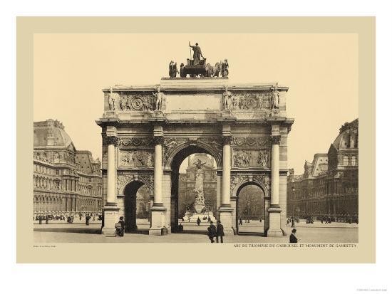 Carousal Triumphal Arch and Monument Gambetta-Helio E. Ledeley-Art Print