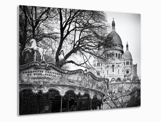 Carousel 18th century - Sacré-Cœur Basilica - Montmartre - Paris - France  Metal Print by Philippe Hugonnard | Art com