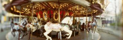 Carousel Horses in Amusement Park, Seattle Center, Queen Anne Hill, Seattle, Washington State, USA