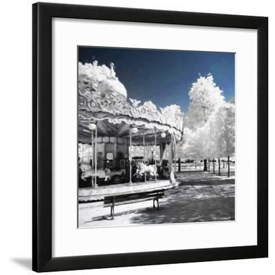 Carousel in Paris II - In the Style of Oil Painting-Philippe Hugonnard-Framed Giclee Print