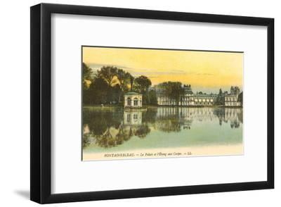 Carp Pond by Fontainebleau Palace, France