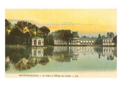 Carp Pond by Fontainebleau Palace, France--Art Print