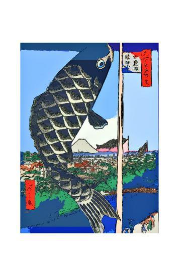 Carp Streamers at Suidobashi-Surugadai-Ando Hiroshige-Giclee Print